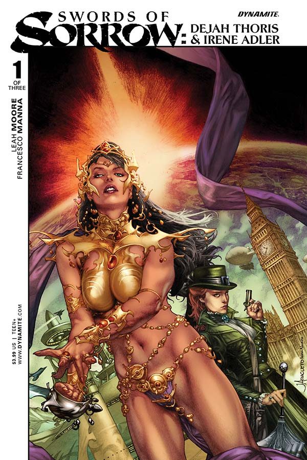 Swords of Sorrow: Dejah Thoris and Irene Adler Cover by Jay Anacleto