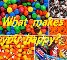 Halloween Candy Collage