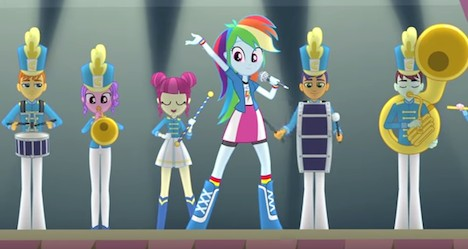 My Little Pony Equestria Girls: Friendship Games The band on stage