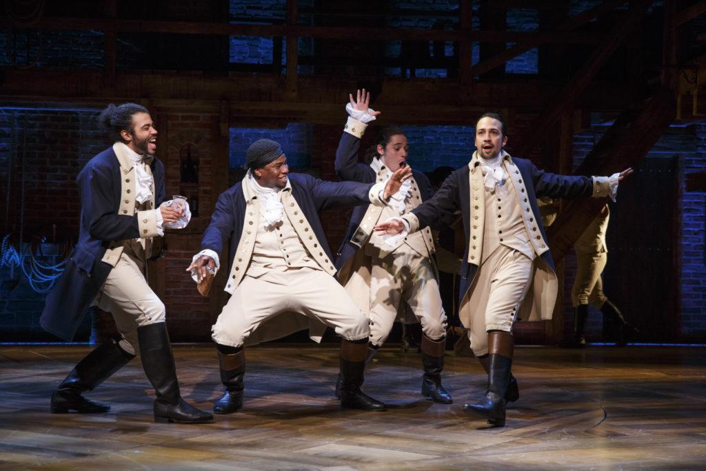 The Marquis de Lafayette, Hercules Mulligan, John Laurens, and Alexander Hamilton.