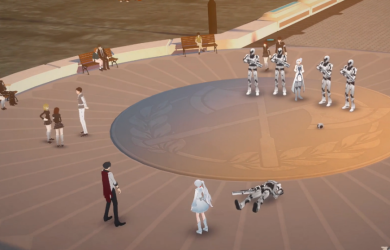 Qrow and Winter facing off in RWBY episode 3