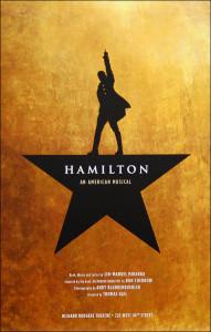 Hamilton the Musical Poster