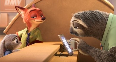 Flash the fastest sloth at the Zootopia DMV