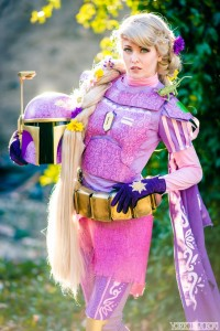 Cosplayer Maid of Might as Rapunzel Fett