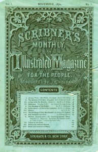 The first issue of the monthly periodical Scribner's Monthly.
