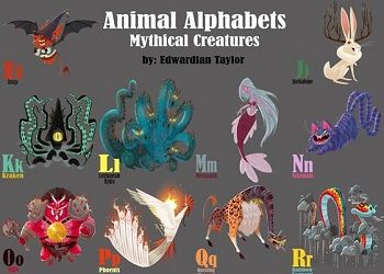 Animal Alphabets Complete Mythic Creatures Alphabet by Edwardian Taylor
