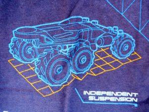 Mass Effect T-shirt close-up