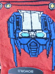 Transformer Socks Closeup