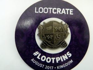 Loot Crate August 2017 Loot Pin