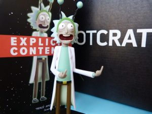 Rick figure from Rick & Morty--July 2017 Loot Crate