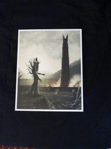 Print of Treebeard taking the hobbits to Isengard
